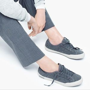 Seavees for Jcrew gray Flannel Sneakers